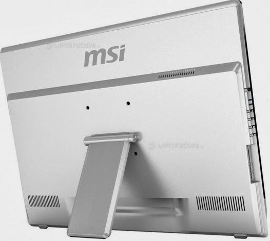 задняя сторона моноблока MSI Adora 24G 0NC