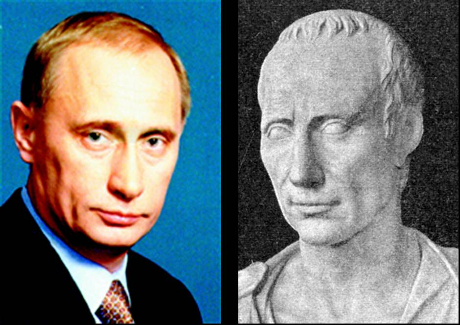 Vladimir Putin And Julius Caesar on cartoon mouth patterns