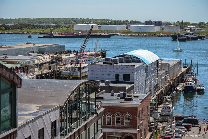 June 2014 Portland Maine Wharf Construction photo by Corey Templeton