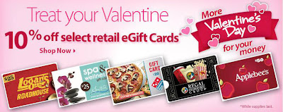 Select eGift Cards 10% off (Walmart Online)