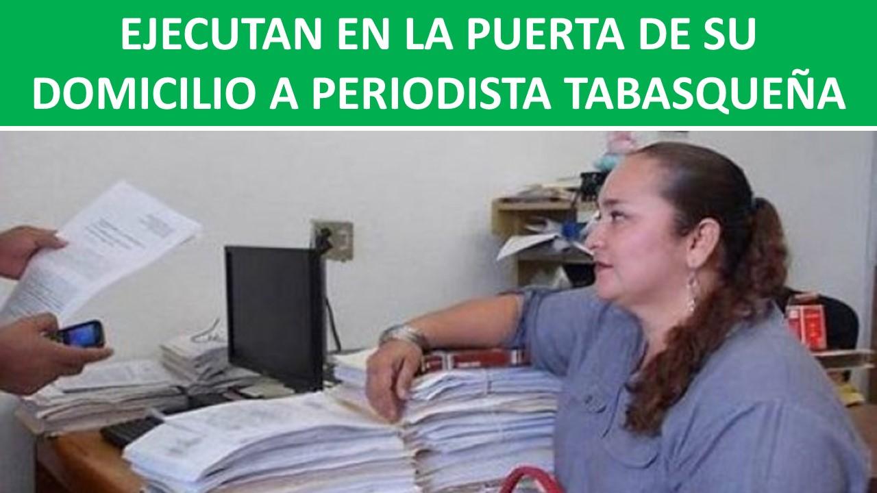A PERIODISTA TABASQUEÑA