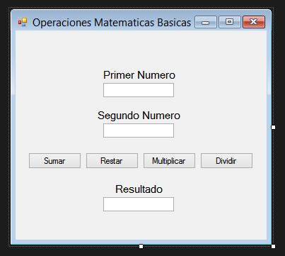 Operaciones matemáticas básicas en Visual Basic