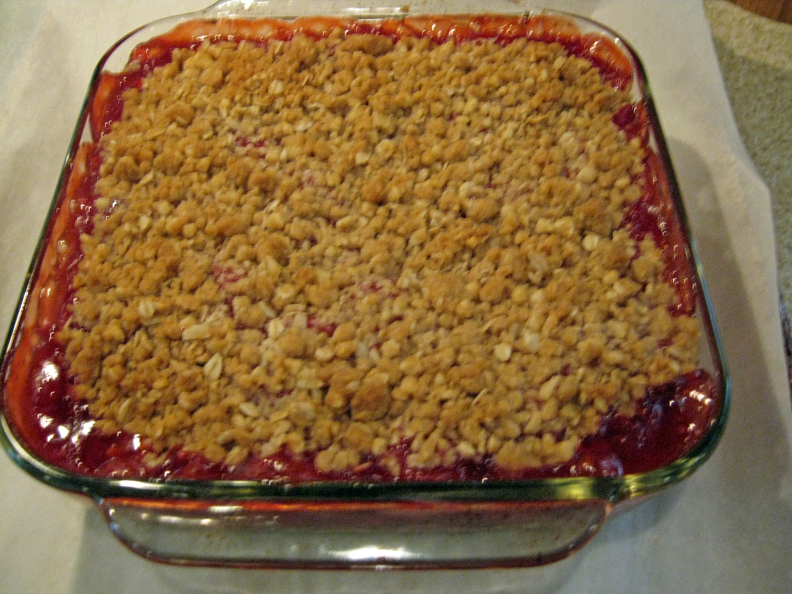 ... About with Grandpat: Dorie Greenspan's Strawberry/Rhubarb Crisp