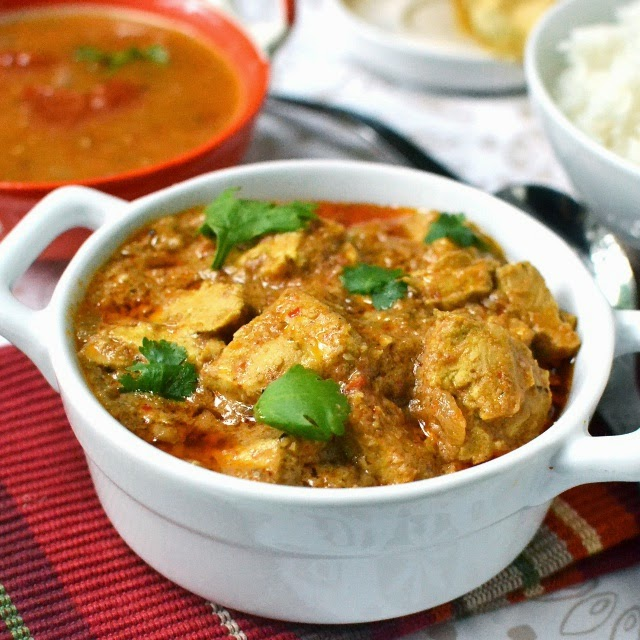 Vegan Andhra Kodi Kura (Vegan Chicken Curry)