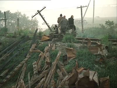 stalker by andrei tarkovsky, entry to the zone, writer, professor stalker