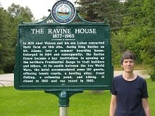 New Ravine House Plaque