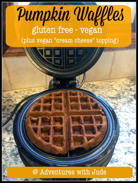vegan pumpkin waffles and cream cheese frosting recipes