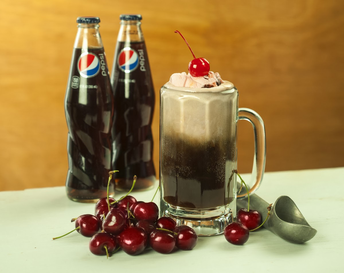 Resipi Cherry Pepsi Float
