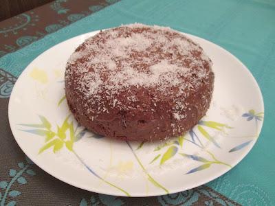 gateau, bounty, nutella, noix de coco, farine, levure chimique, oeufs, dessert, recette de gateau,