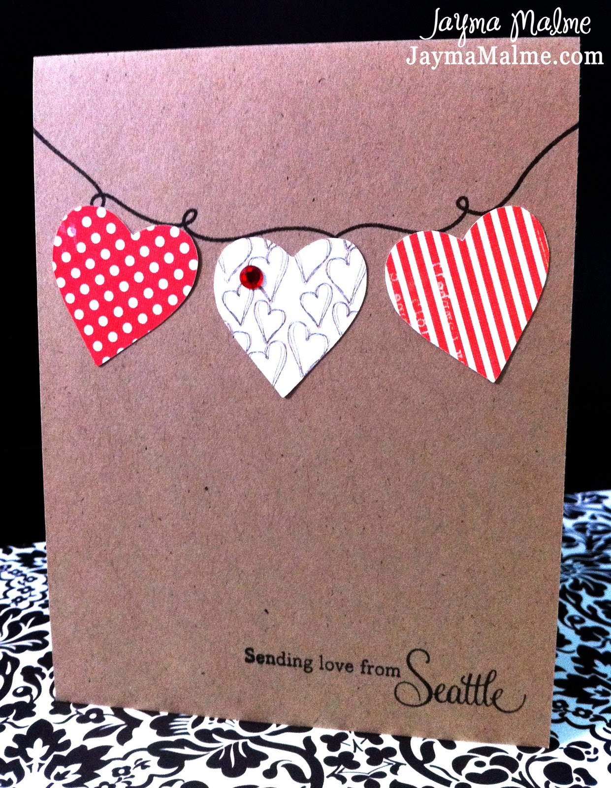 Playing with Paper CTMH Scrapbooks Cards DIY Clean and Simple – Simple Valentines Cards