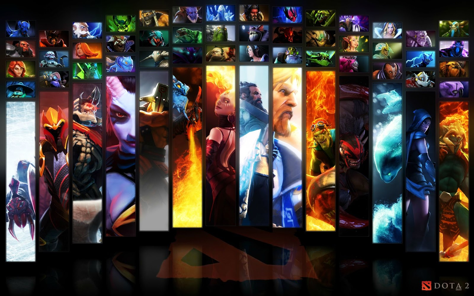 Dota 2 Wallpapers Dota 2 Wallpaper Heroes Icon Mix With