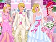 Princesses at Barbie's Wedding is a free online game for girls on GamesGirlGames.com.Barbie and Ken decided to get married on New Year's Eve! Barbie's bffs princess Rapunzel and princess Ariel are going to be her bridesmaids. Dress Barbie and Ken for their New Year wedding and pick lovely matching dresses for the princesses.  Rapunzel and Ariel need dresses that would look good with Barbie bridal outfit and match with each other.