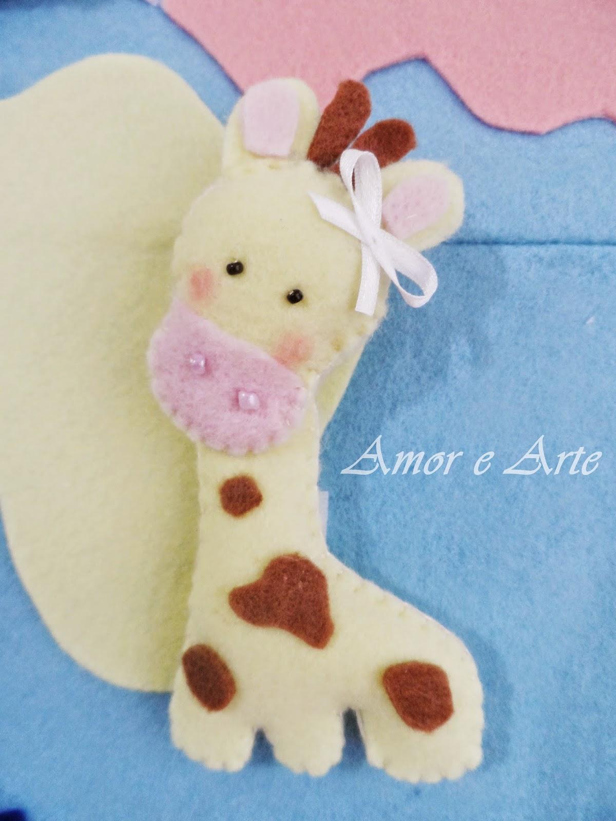 Girafa em feltro