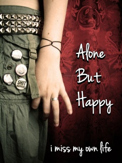 Alone But Happy 240x320 Mobile Wallpaper