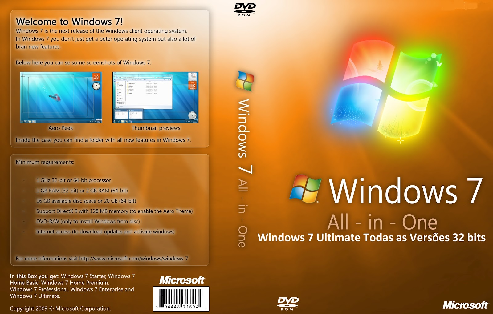 Baixar Windows 7 x32 Bits