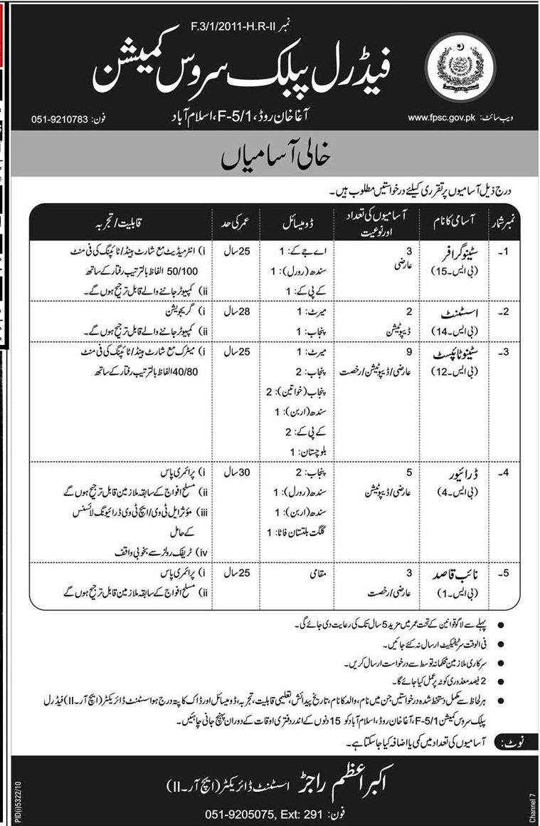 Multiple Job Openings In Fedral Public Service Commission
