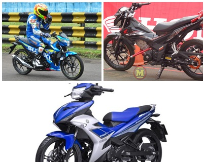 Perbandingan Spesifikasi MX King 150 Vs New Sonic 150 Vs Satria F150 FI