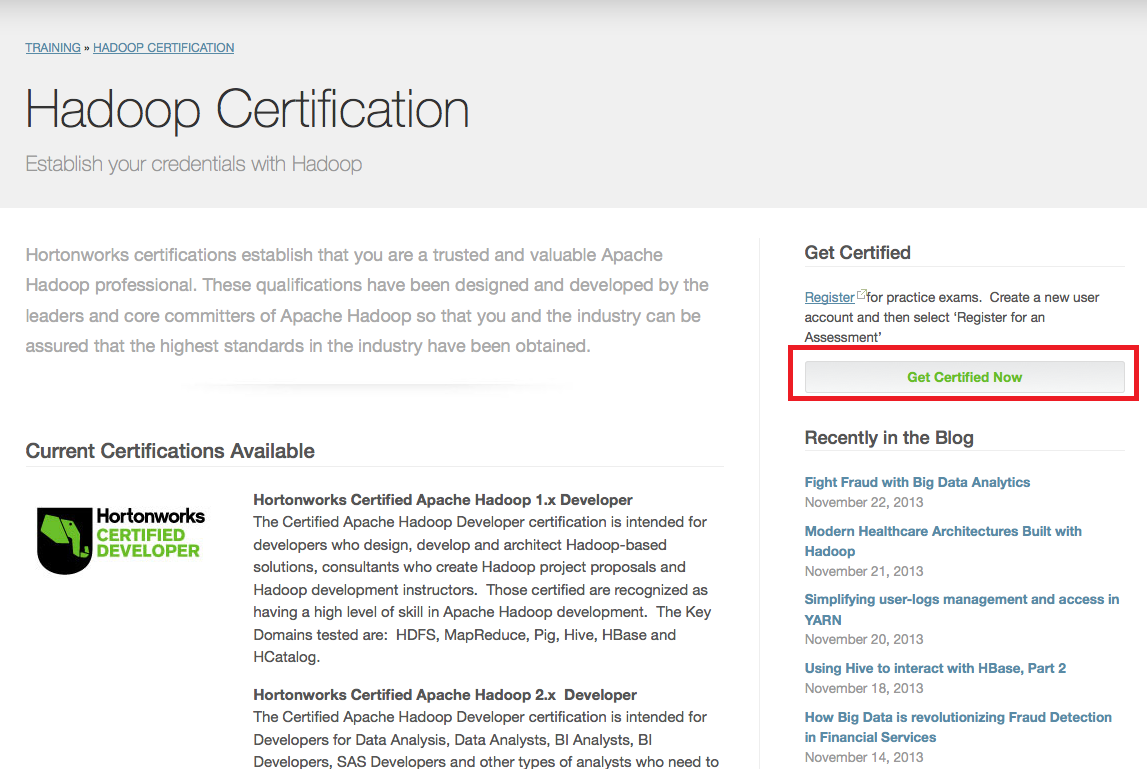 Hortonworks Certified Apache Hadoop Administraotr