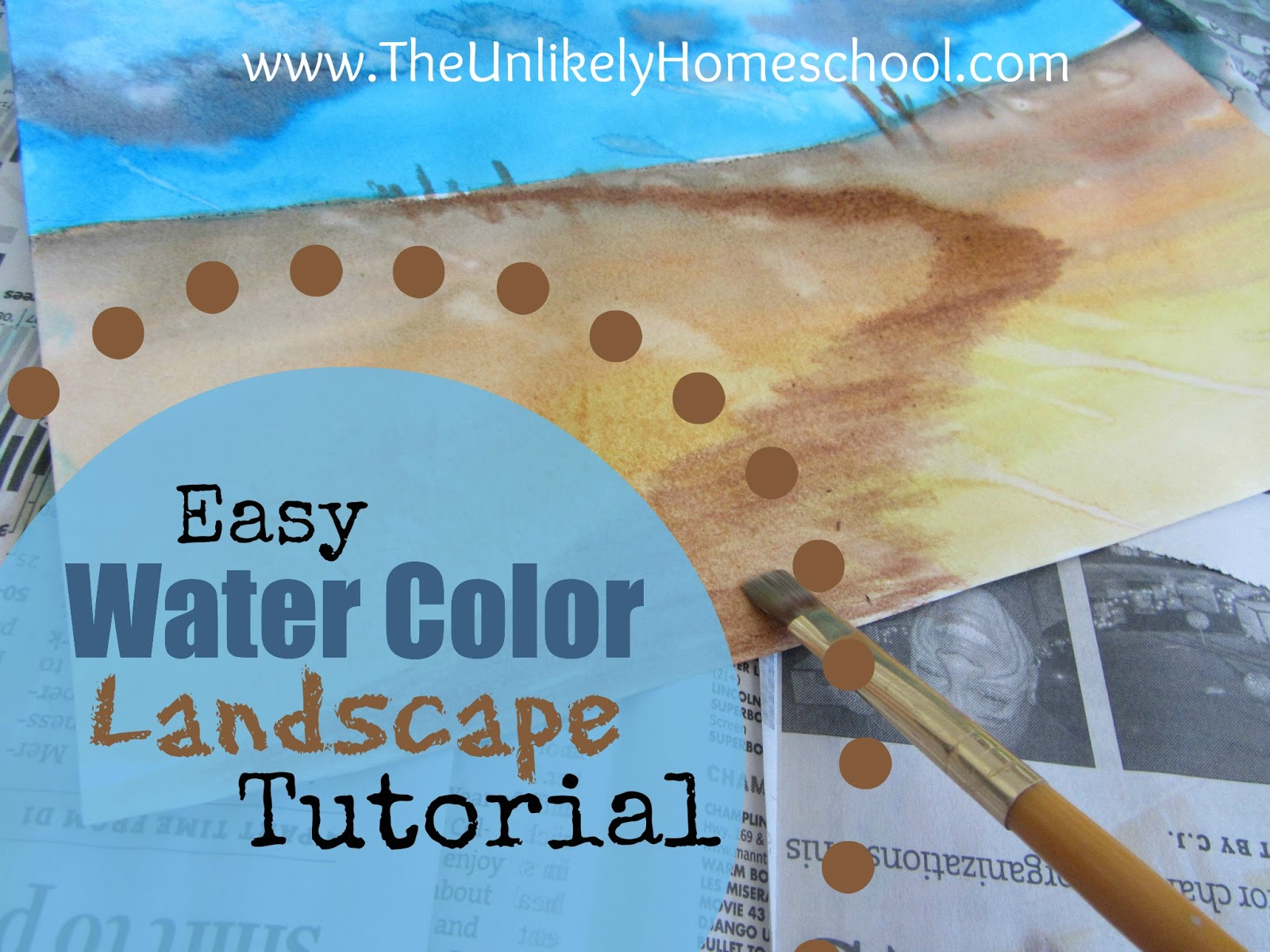 the unlikely homeschool art lesson easy watercolor