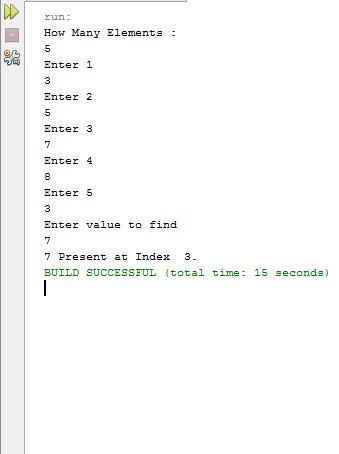 Java Searching Mechanism
