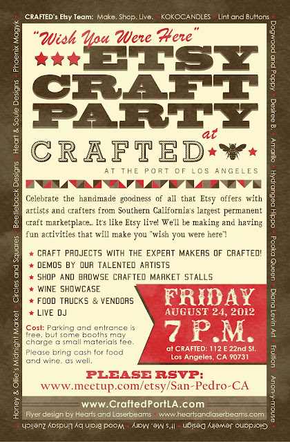 etsy craft party at crafted at the port of la!!
