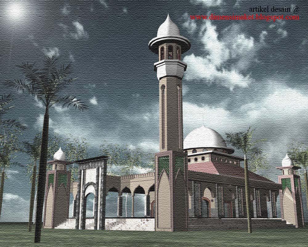 Berikut gambar contoh desain masjid