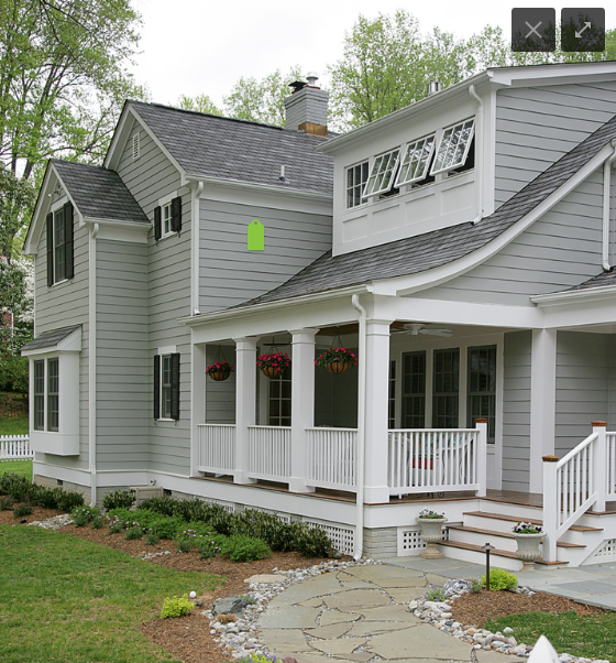 Renovation at 7603: Exterior Paint Colors