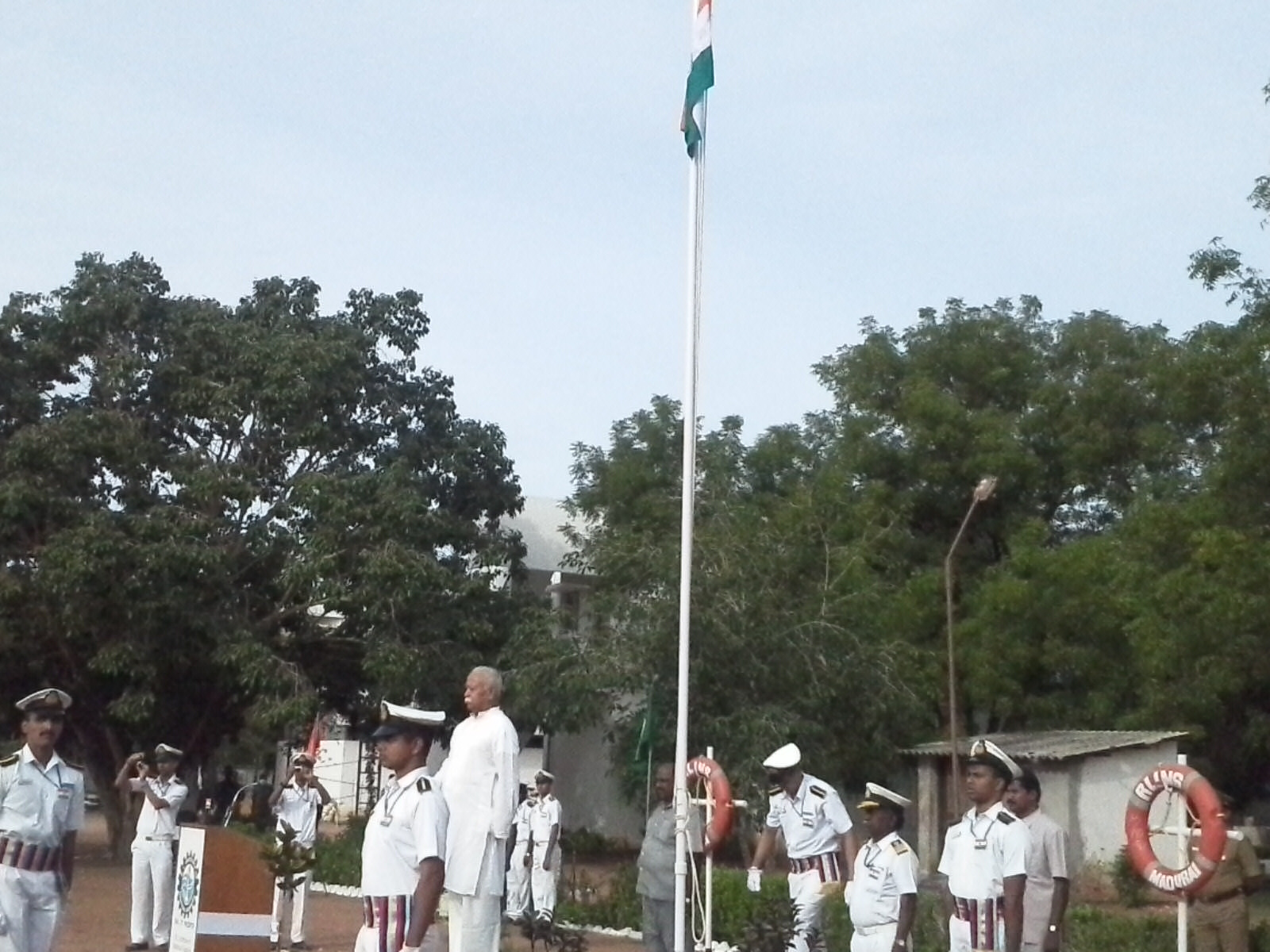 RSS Sarsanghachalak hoists National Flag at Madurai