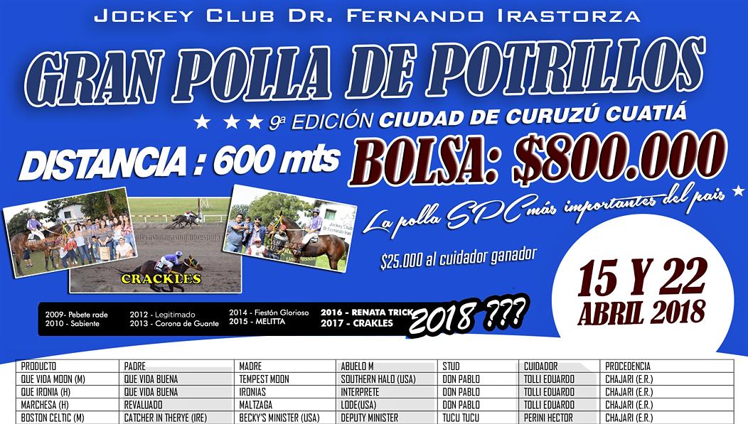POLLA DE POTRILLOS - LISTADO