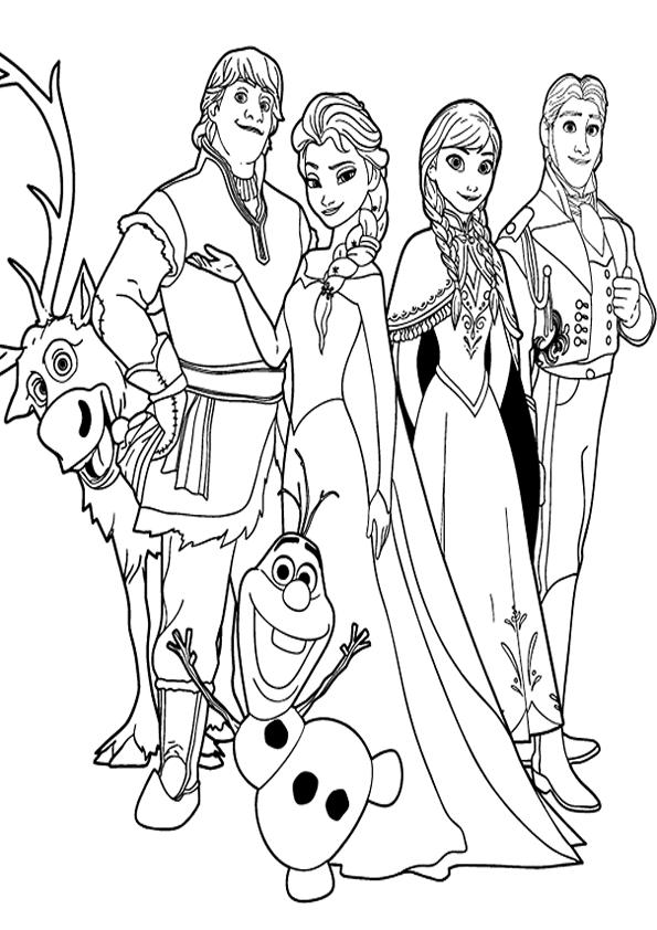 Dibujos de Frozen para colorear  en Picturalia