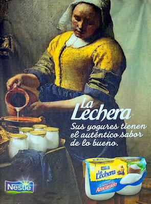 Vintage el glamour de anta o publicidad la lechera - La lechera de vermeer ...
