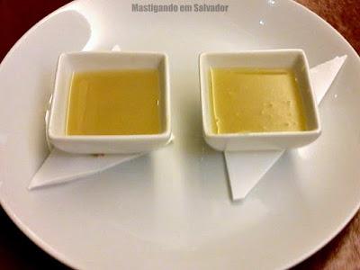 Restaurante Couvert: Amostras dos Caldos de Aspargos e de Cebola