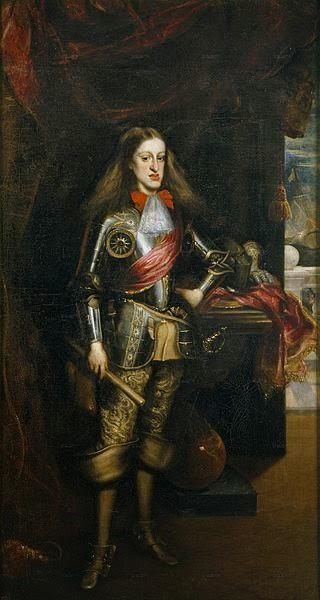 Carlos II con armadura retrato del rey realizado por Juan Carreño de Miranda de España