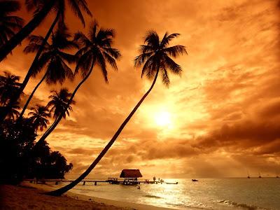 nasihat, imam, hanbali, hambali, pantai, cantik, matahari, terbenam, turun, renungan, islamik