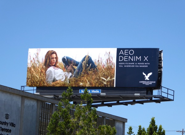 AEO Denim X billboard