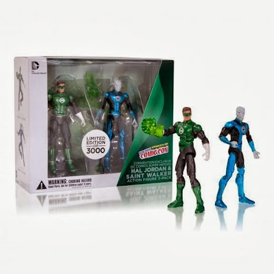 New York Comic Con 2013 Exclusive Green Lantern DC Comic Super Heroes Action Figure 2 Pack by DC Collectibles - Green Lantern Hal Jordan & Blue Lantern Saint Walker