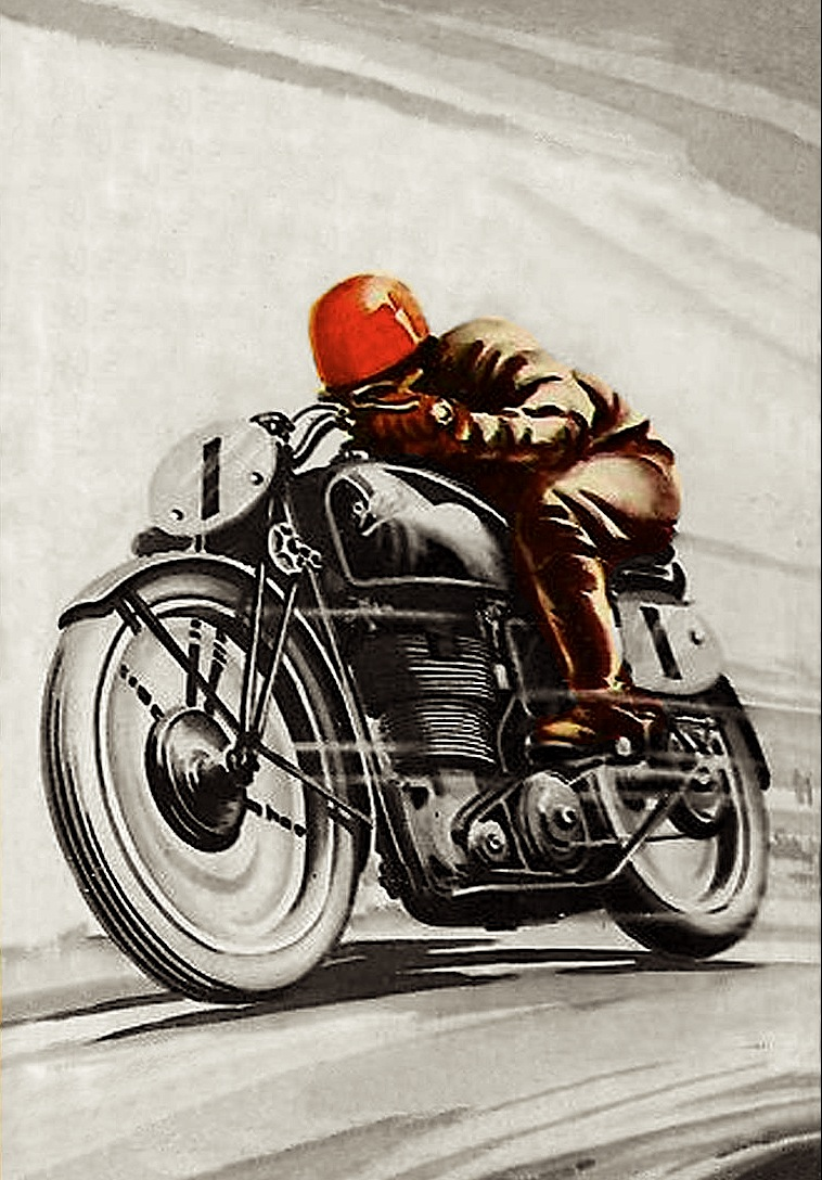 vintage motorcycle art inazuma caf racer. Black Bedroom Furniture Sets. Home Design Ideas
