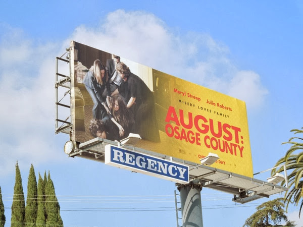 August Osage County movie billboard