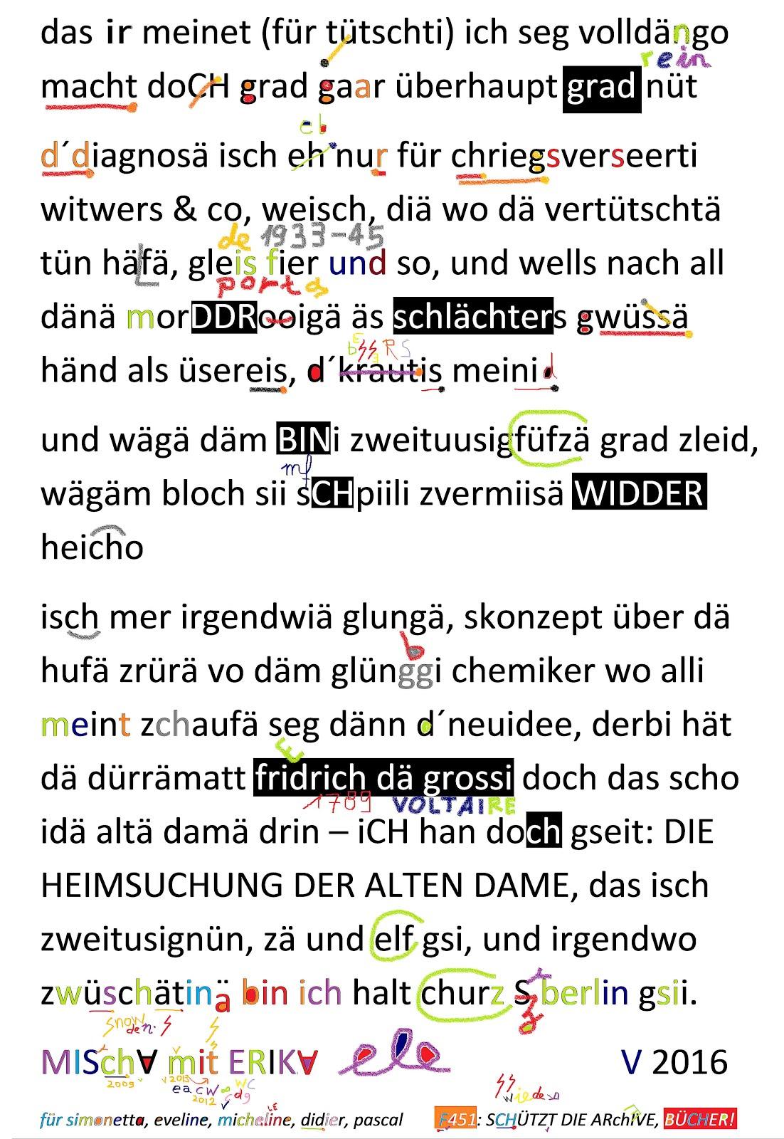 mischa vetere egon ammann friedrich dürrenmatt erika burkart schweizerisches literaturarchiv