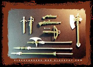 Piezas de armas para las miniaturas del Impero o los tercios de Gamezone, diseñadas y esculpidas por ªRU-MOR a escala warhammer fantasy