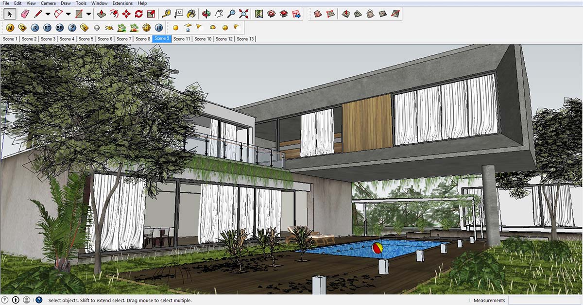 sketchup texture: awesome free sketchup model concrete block house