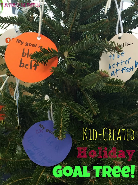 Mini monets and mommies kids goal setting art activity