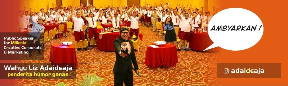 Pembicara Seminar Kewirausahaan Motivasi Creative Entrepreneurship Branding UKM gaya Humor Plesetan