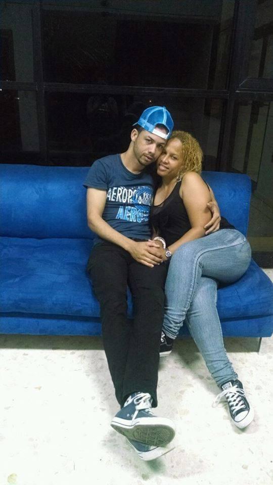 Junior Montesino y su esposa Glory Hernandez