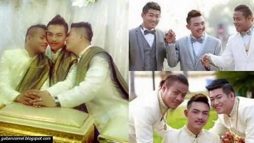 Pelik bin Aneh Tiga Lelaki Berasal Dari Thailand Berkahwin Sesama Sendiri
