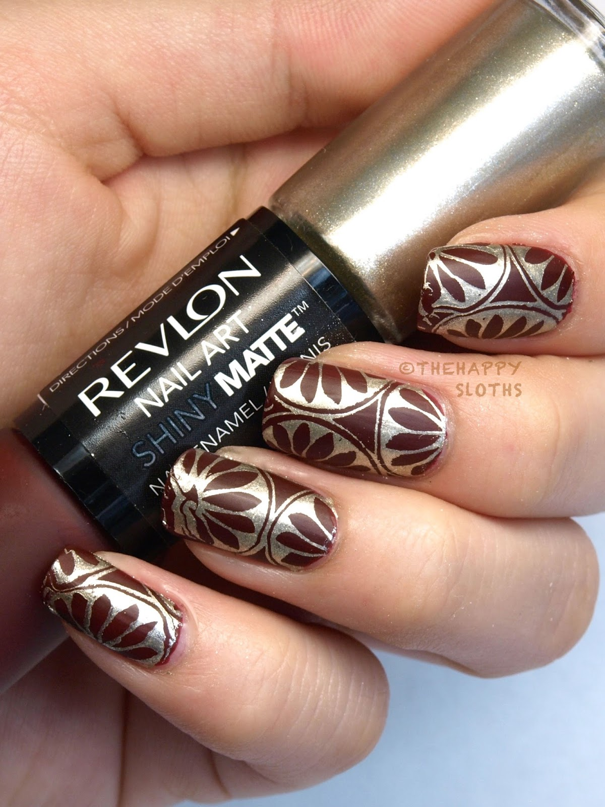 "Revlon Nail Art Shiny Matte Nail Enamel in ""Leather & Lace"" & ""Tortoise Shell"": Review and Swatches"