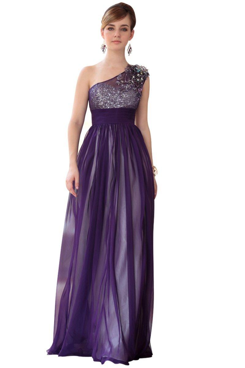 Dorisqueen One Shoulder Long Formal Dress.