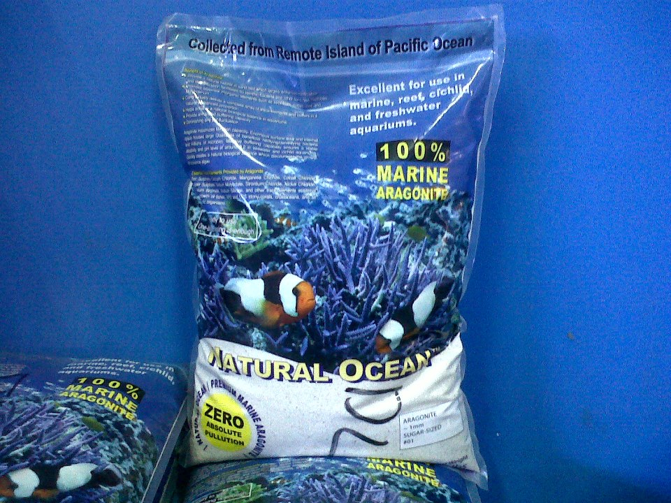 Jual Peralatan Aquarium Laut Aragonite Substrate Natural