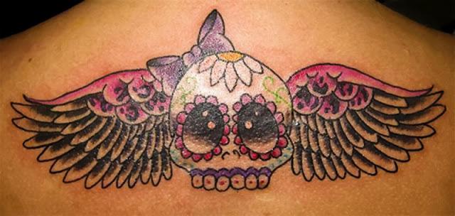Tatuagem de caveira do dia dos mortos