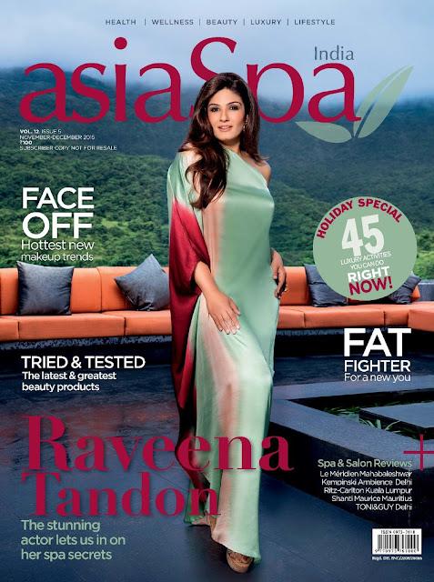 Actress @ Raveena Tandon - AsiaSpa India, November/December 2015